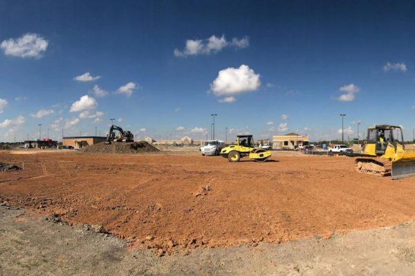 Базовый этап – подготовка строительной площадки.